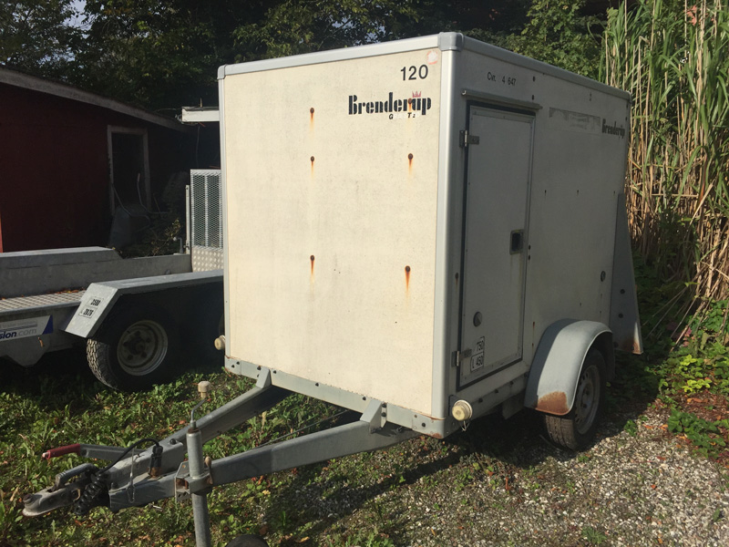 Brugt Brenderup Lukket Kassetrailer // SOLGT
