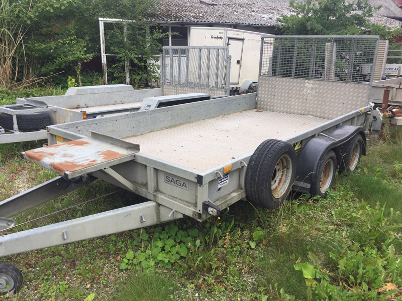 Brugt Ifor Williams GP126 Maskintrailer // SOLGT